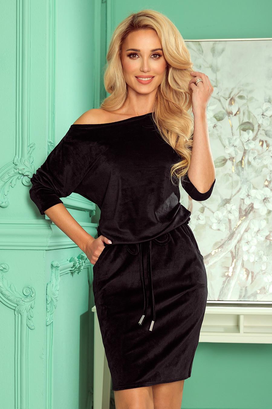 Dámske šaty 13-129 - NUMOCO čierna L