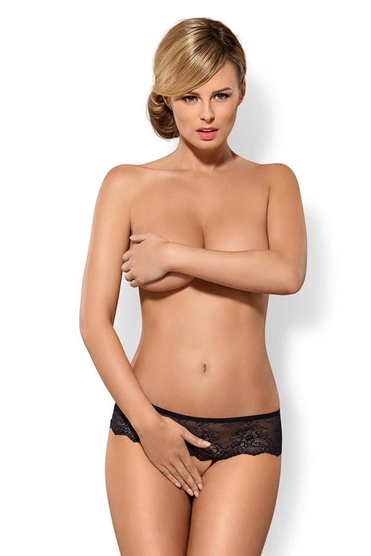 Erotické kalhotky Merossa - OBSESSIVE černá L/XL