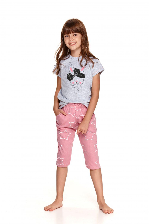 Dievčenské pyžamo 2214 - TARO šedá 128