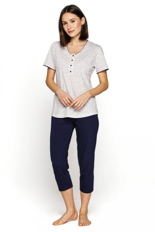 Dámske pyžamo 548 plus - CANA bílá XXL