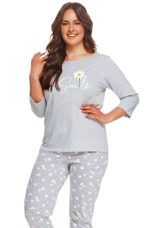 Dámske pyžamo 2601 Hera plus - TARO šedá 5XL