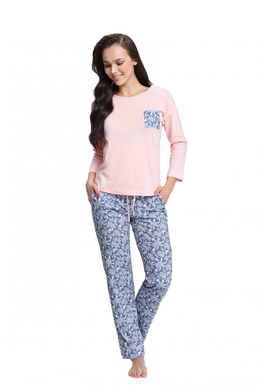 Dámske pyžamo 494 - Luna ružová XXL