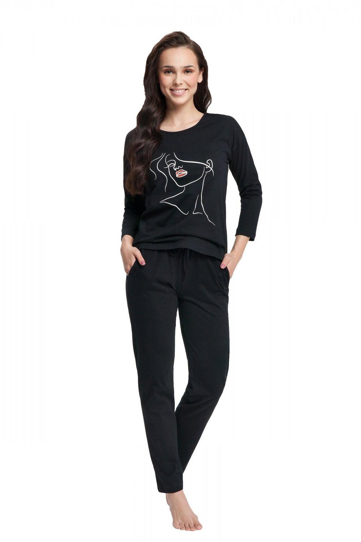 Dámske pyžamo 521 - Luna čierna XXL