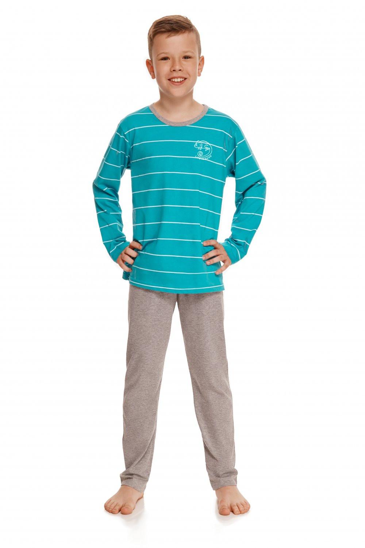 Chlapčenské pyžamo 2622 Harry turquoise - TARO tyrkysová 134