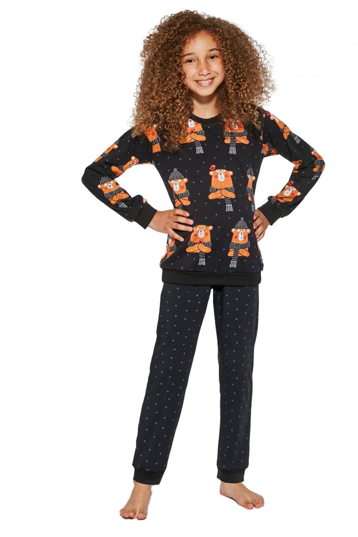 Dievčenské pyžamo 996/148 Bear - Cornet čierna 110/116