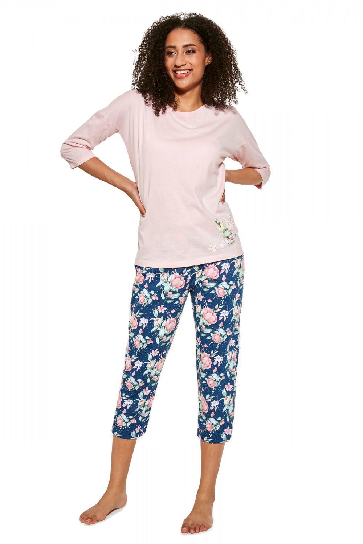 Dámske pyžamo 463/288 Flower - Cornet ružová XXL