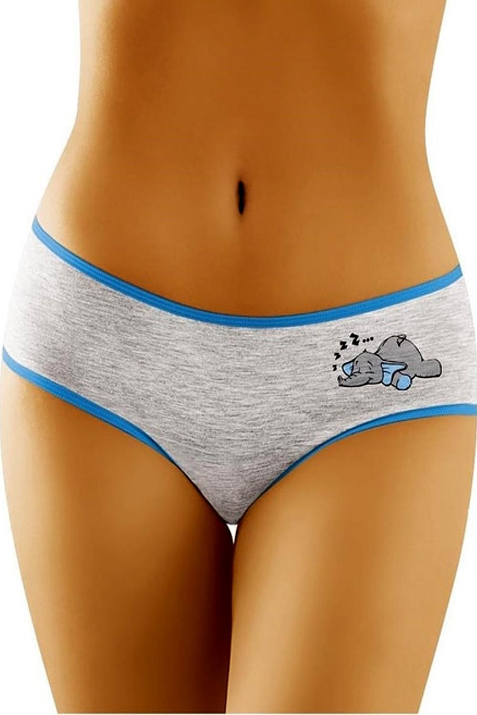 Dámské kalhotky Funny 2501 - slon šedá S