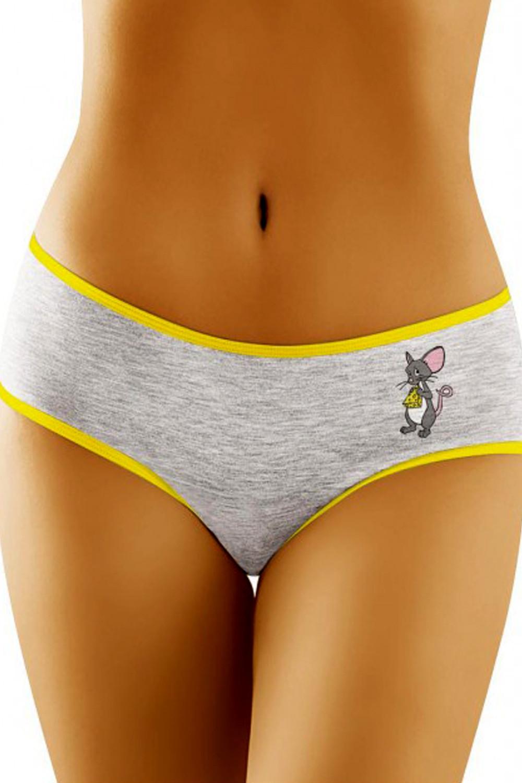 Dámské kalhotky Funny 2506 - myš šedá S