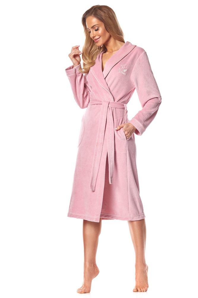 Dámsky savý župan Sarah svetlo ružový růžová XL