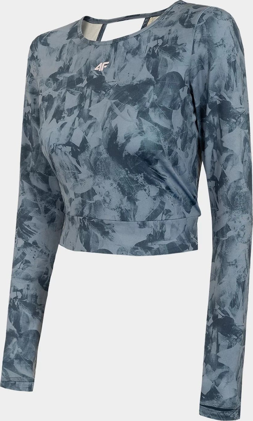 Dámske tričko na jogu 4F TSDLF010 Farebné vícebarevné pevné XXL