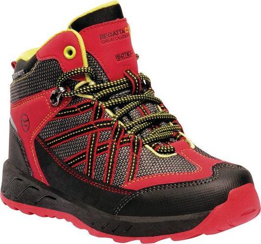 Dětská trekingová obuv REGATTA RKF509 Samaris Mid Jnr Červená 33