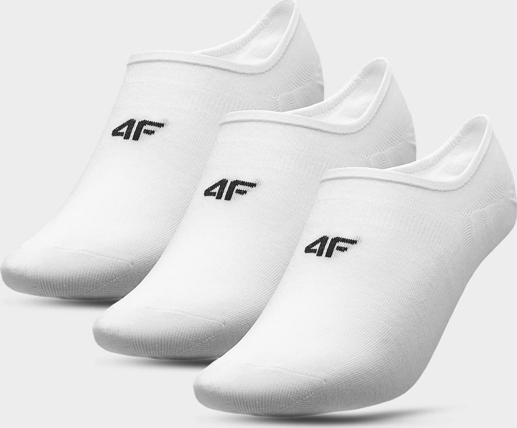 Pánské nízké ponožky 4F SOM300 Bílé (3páry) 39-42
