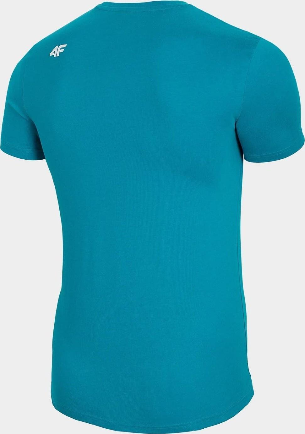 Pánske tričko 4F TSM255 tyrkysové tyrkysová L