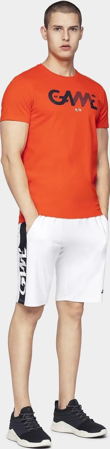 Pánske tričko 4F TSM028 oranžovej oranžová S