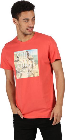 Pánske tričko REGATTA RMT206 Cline IV Červené červená XXL