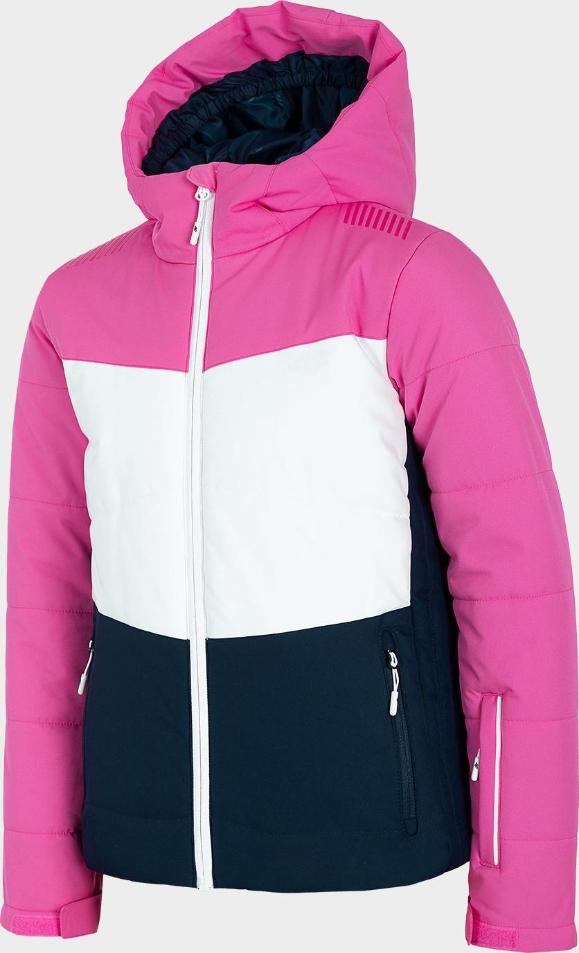 Dívčí lyžařská bunda 4F JKUDN401 Růžová 122