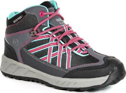 Dětská trekingová obuv REGATTA RKF509 Samaris Mid Šedé 33