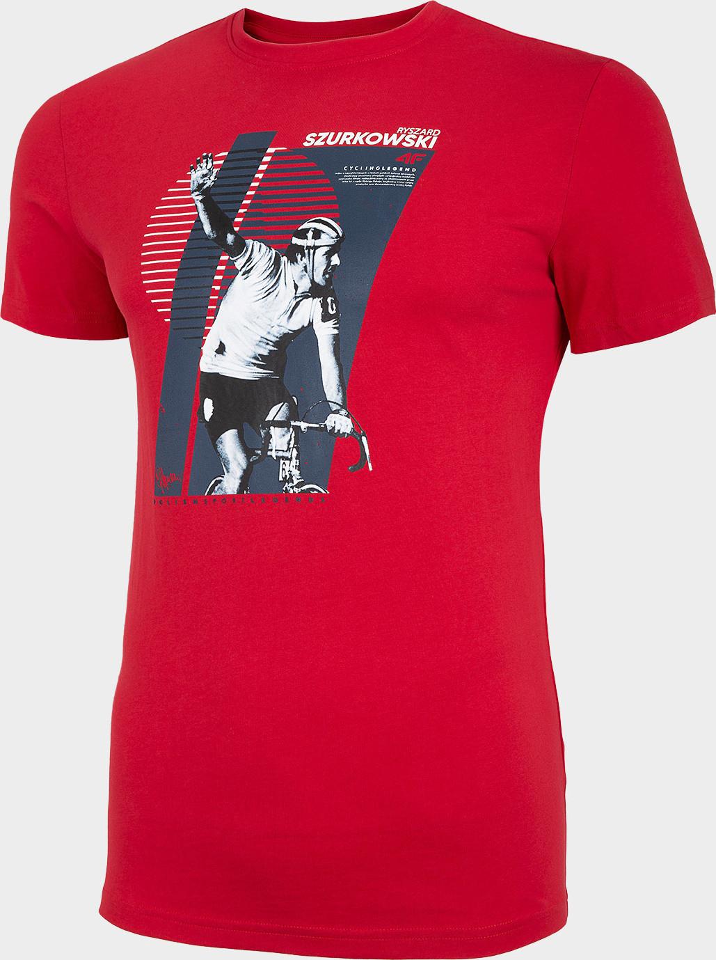 Pánske tričko 4F TSM247 červenej červená XL
