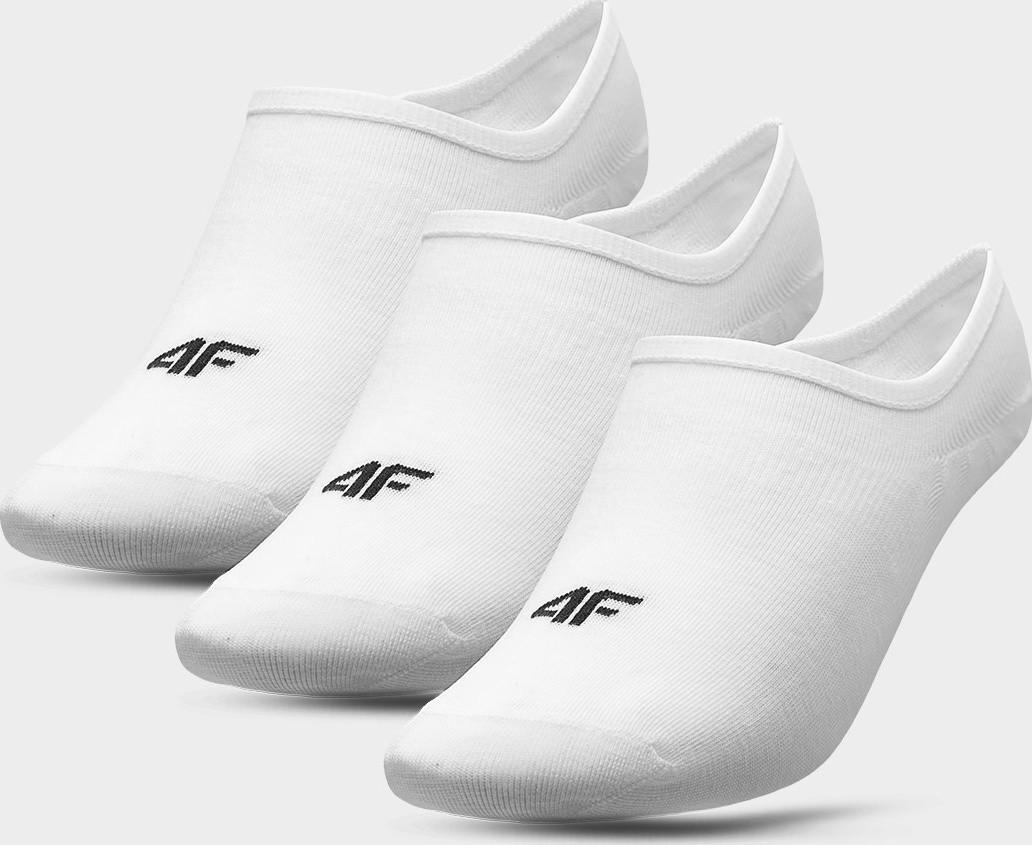 Dámské nízké ponožky 4F SOD301 Bílé (3páry) Bílá 39-42