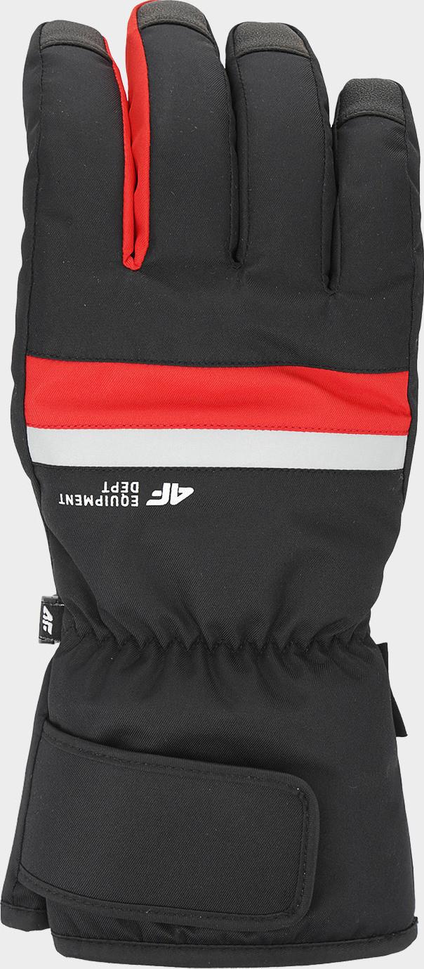 Pánske lyžiarske rukavice 4F REM350 Červené červená 7-7.5 (S)