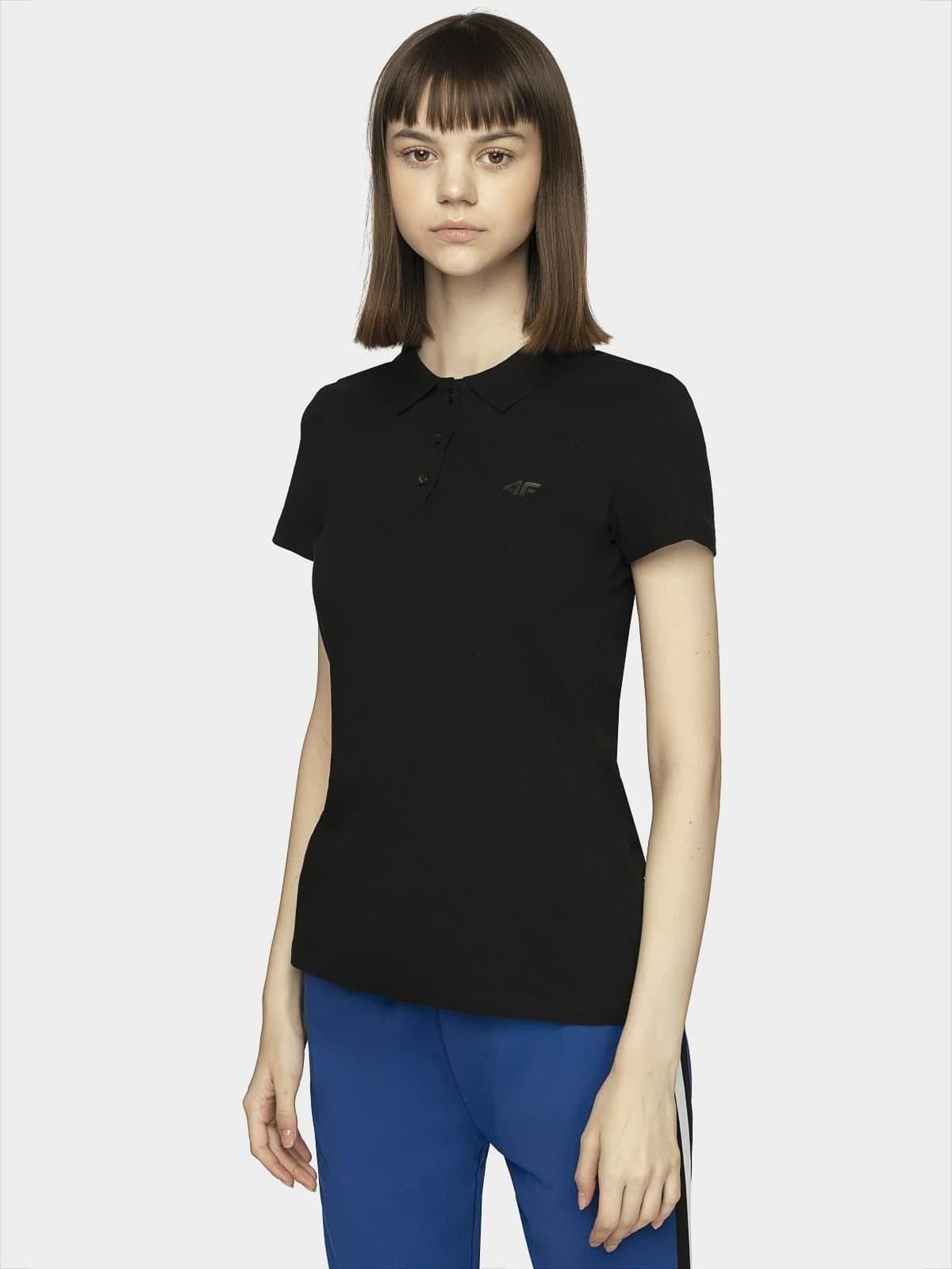 Dámske polo tričko 4F TSD008 čierna černá M