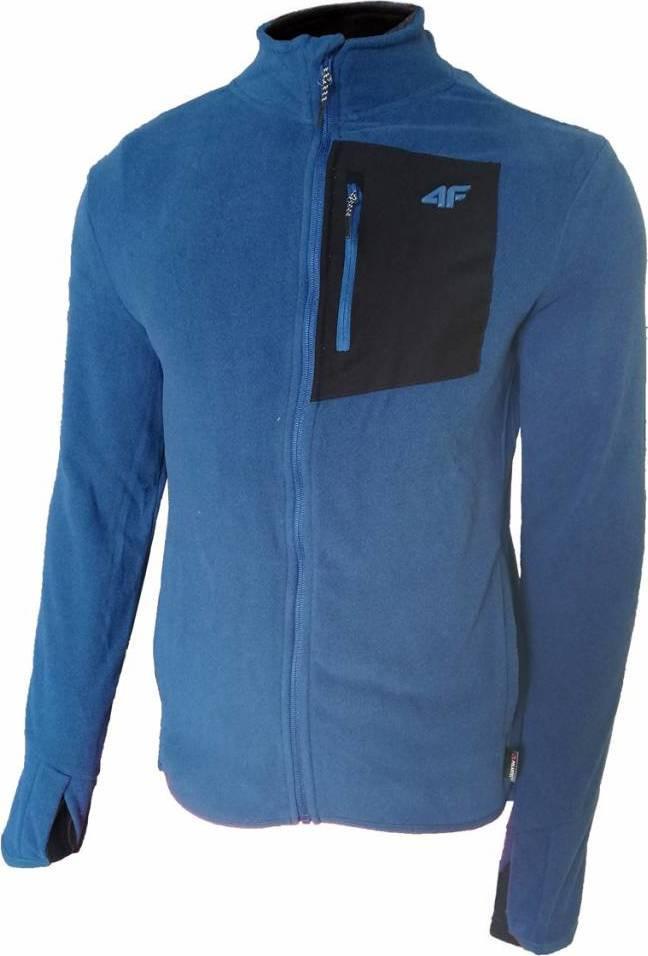 Pánska fleecová mikina 4F PLM060 modrá modrá XXL