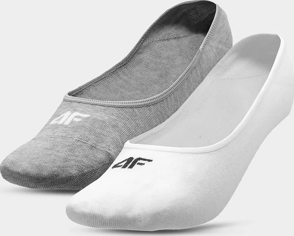 Dámske ponožky 4F SOD304 sivá a biela sivá a biela 39-42