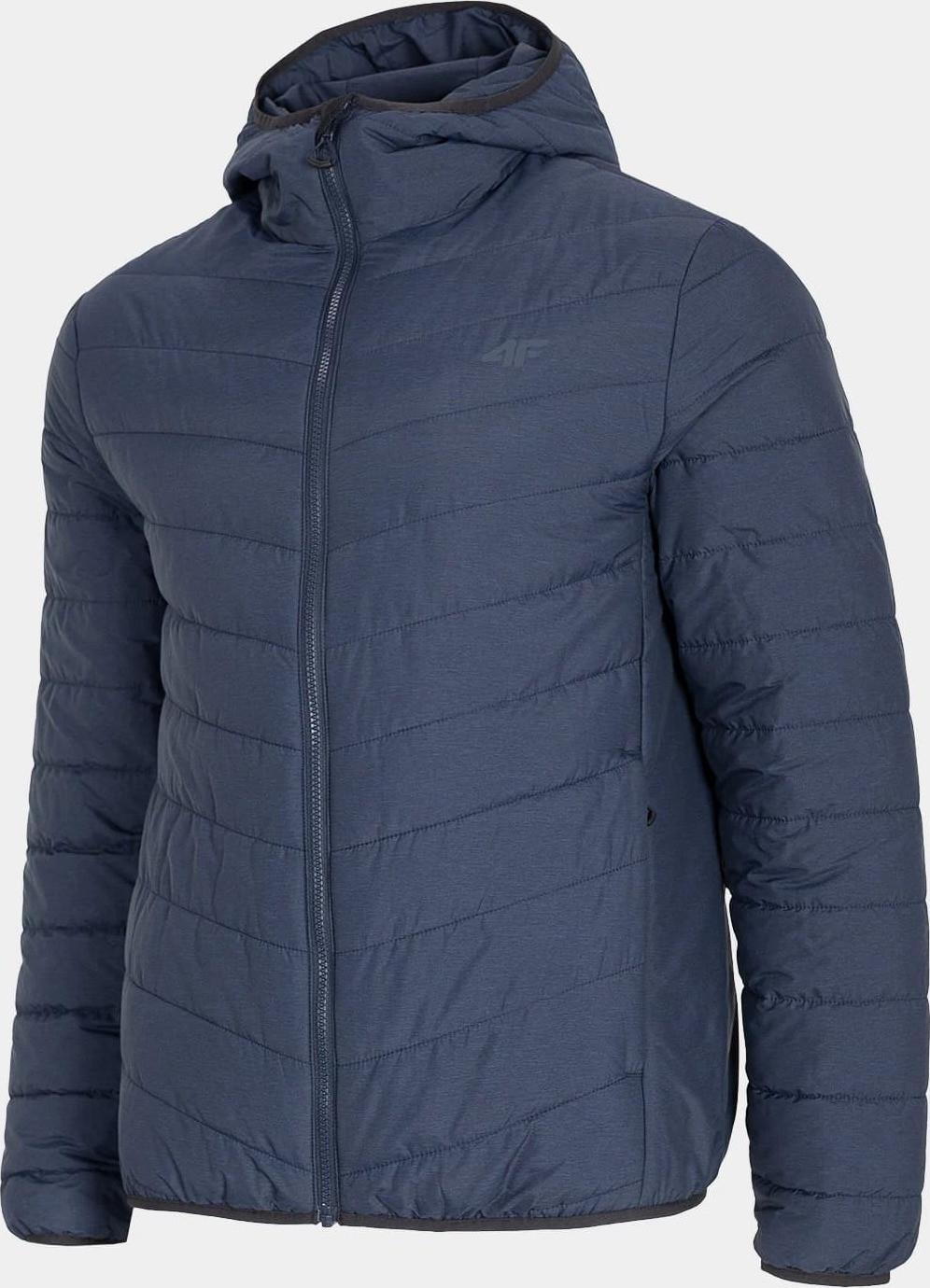 Pánska páperová bunda 4F KUMP301 Tmavo modrá modrá L