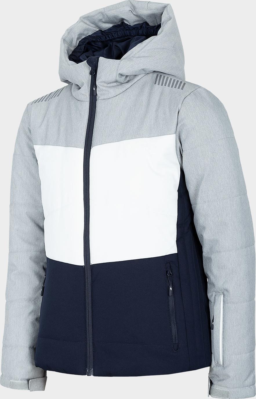 Dívčí lyžařská bunda 4F JKUDN401A Šedá 122