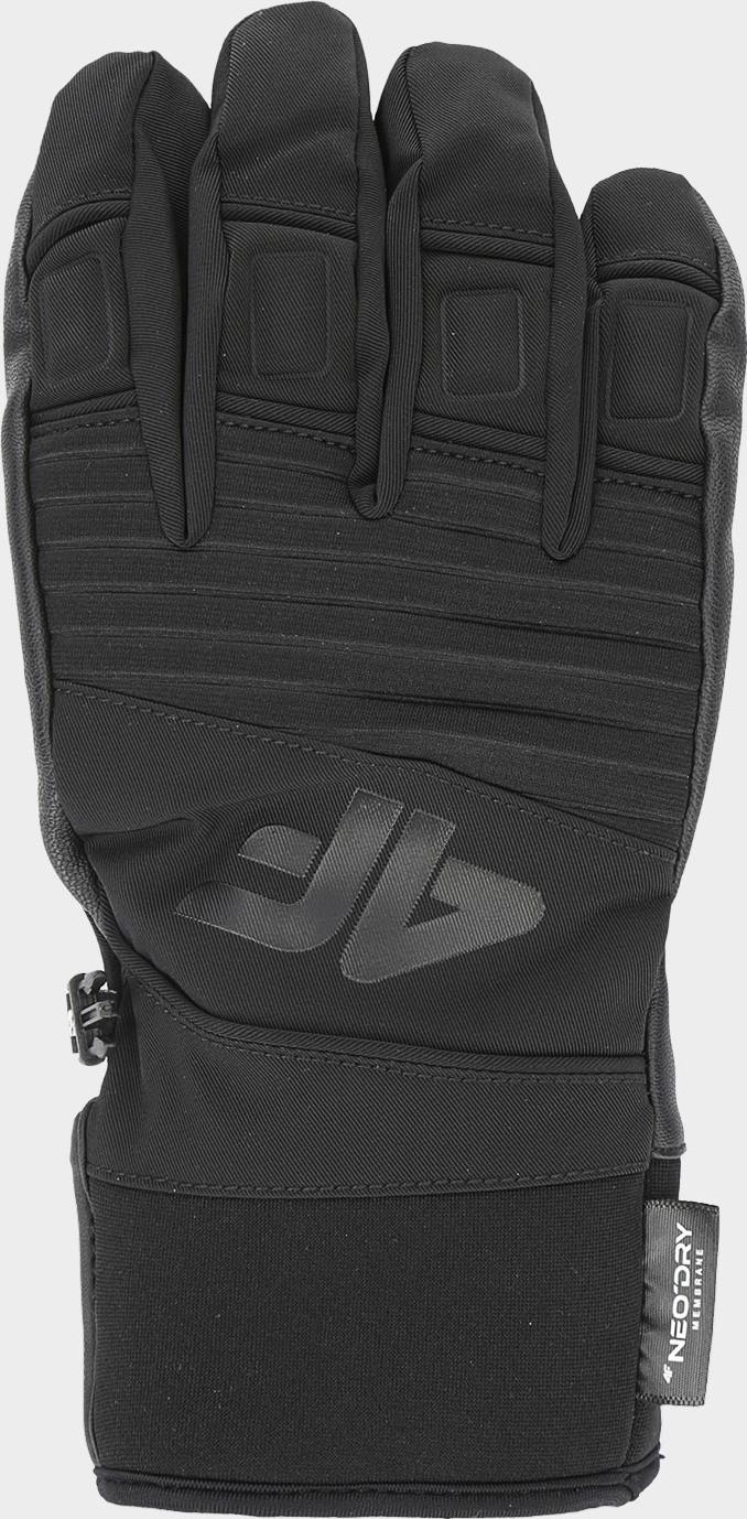 Pánske lyžiarske rukavice 4F REM250 Čierne Cernay 7-7.5 (S)