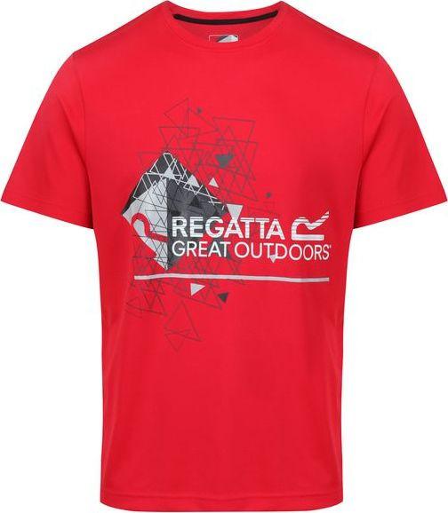 Pánske tričko Regatta RMT162 Fingal III Red červená S