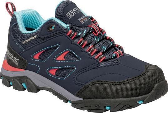 Detské trekové topánky Regatta RKF572 Holcombe Low Čierne černá 35