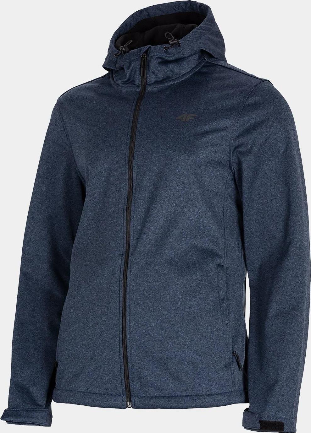 Pánska softshellová bunda 4F SFM001 tmavo modrá tmavě modrá melanž L