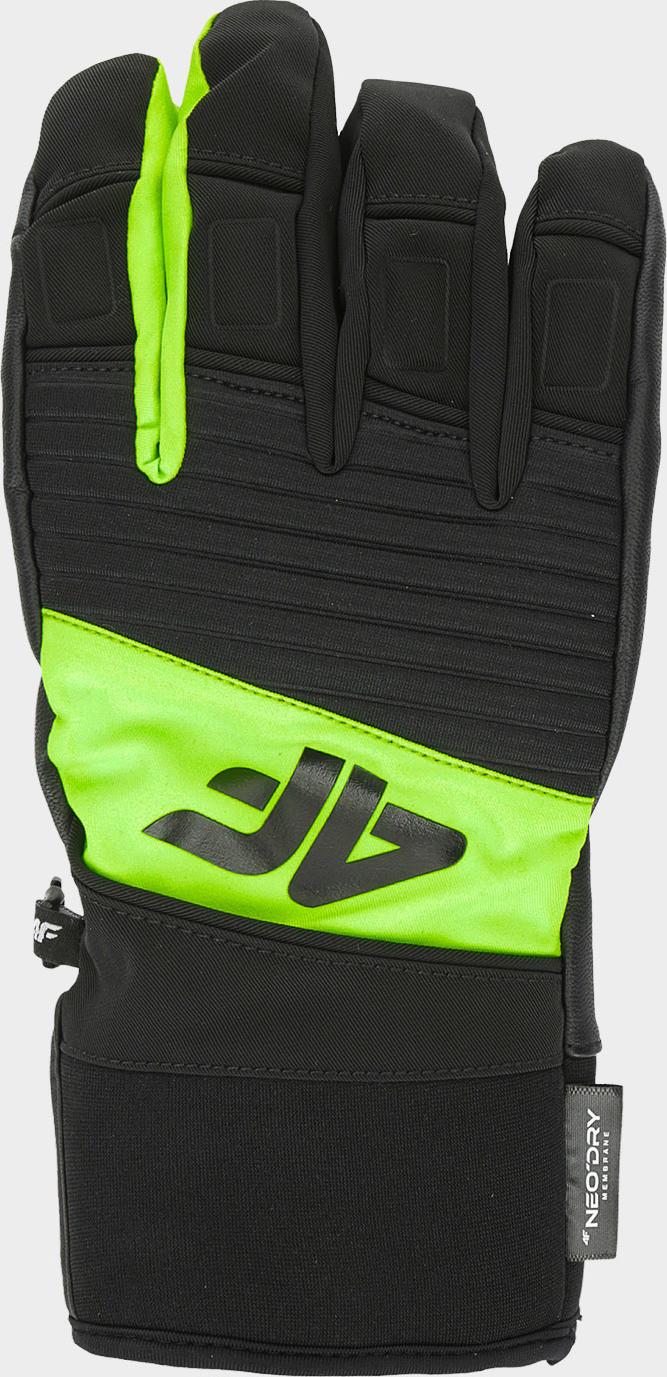 Pánské lyžařské rukavice 4F REM250 Zelené 7-7,5(S)