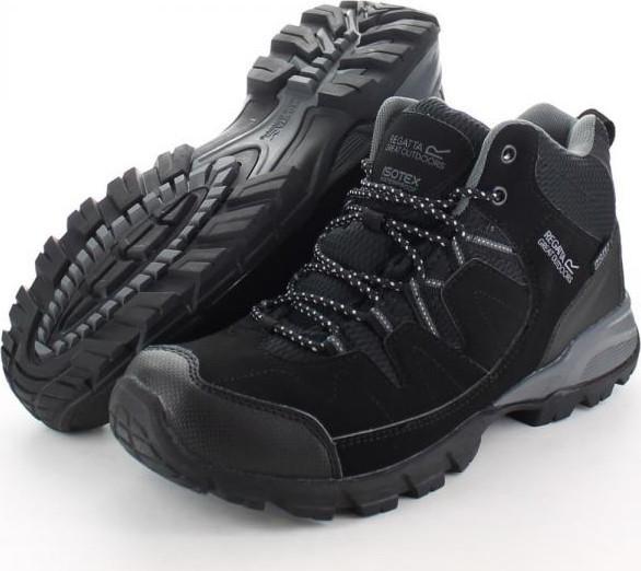 Pánska obuv Regatta RMF459 HOLCOMBE MID Black / Granit Cernay 46