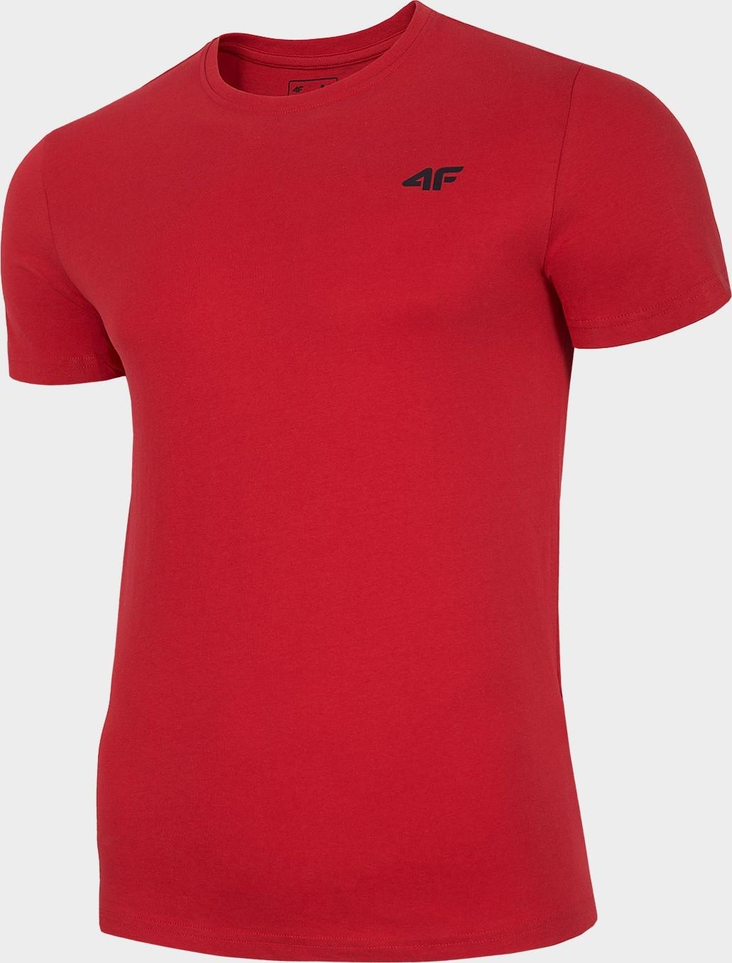 Pánske bavlnené tričko 4F TSM300 Červené červená XXL