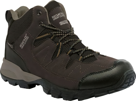 Pánska outdoorová obuv REGATTA RMF459 Holcombe Mid Hnedé hnedá 47