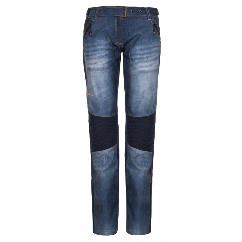 Dámske sofshellové nohavice jeans-w modrá - Kilp 34