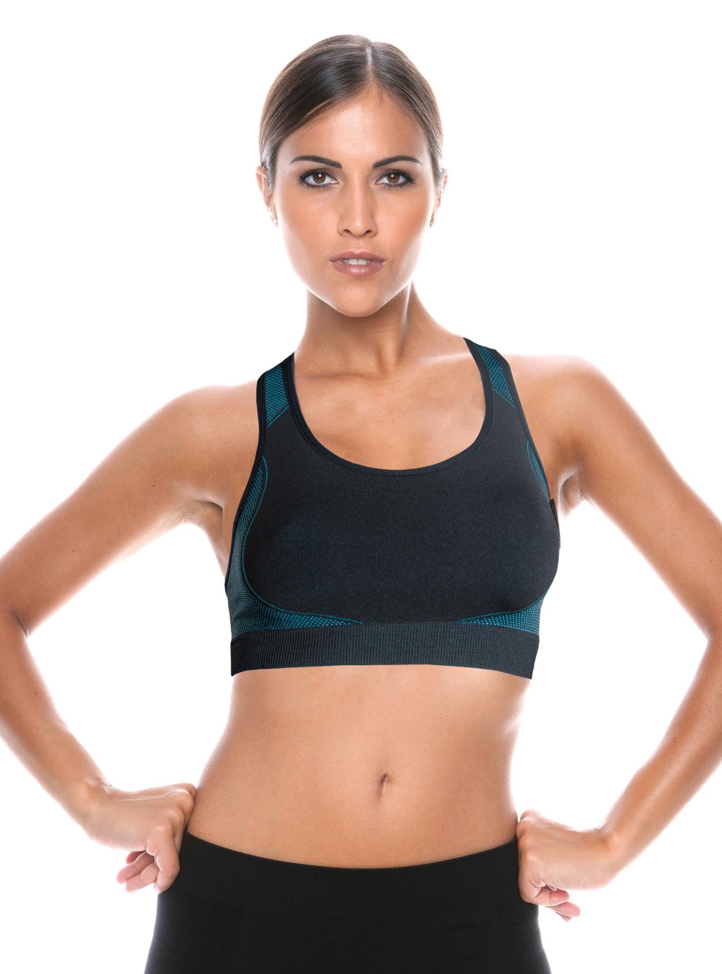 Active-Fit Dámsky športový top SPORT BRA ACTIVE.FIT Farba: Čierna, Veľkosť: M / L