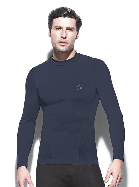 Pánske bezšvové tričko dlhý rukáv Active-Fit Farba: Modrá, Veľkosť S / M