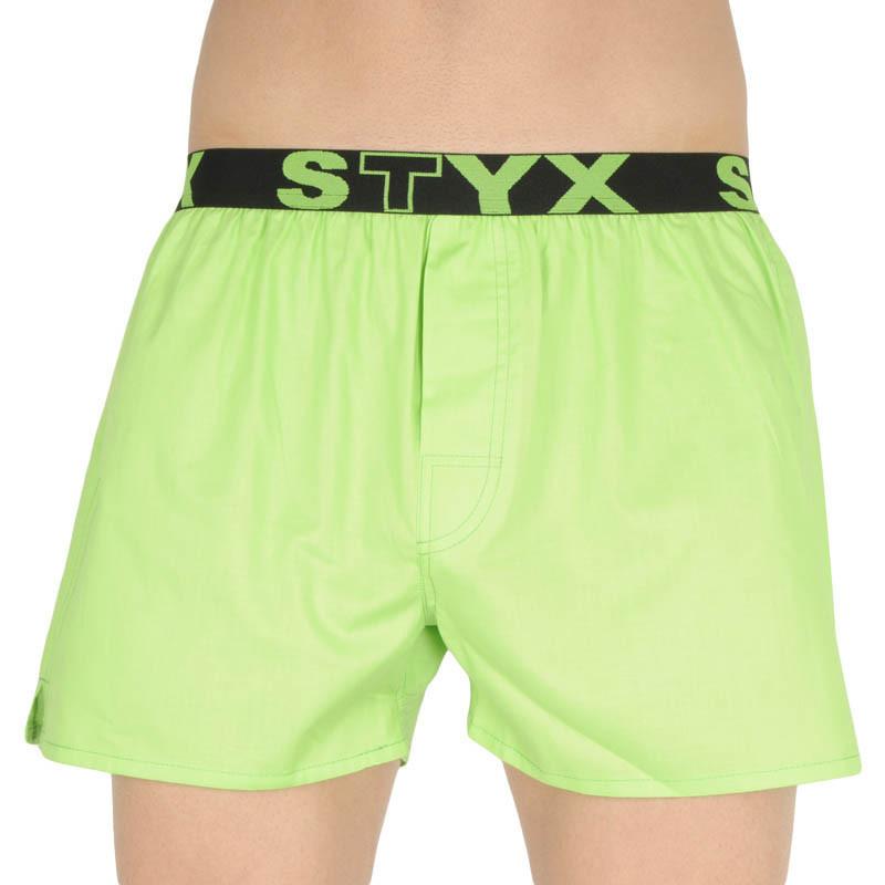 Pánske trenky Styx športové guma zelené (B1069) XL