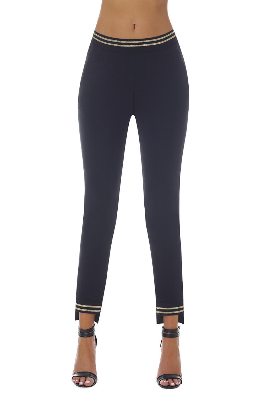Dámske nohavice - legíny Bas Bleu Marisa čierna-zlatá 4