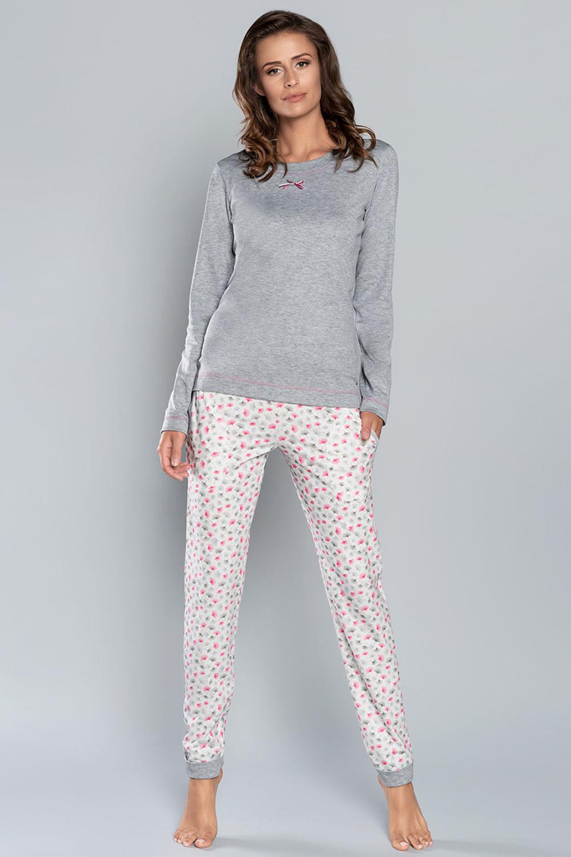 Dámske pyžamo Italian Fashion Lena Dl.r. dl.sp. žíhaná s