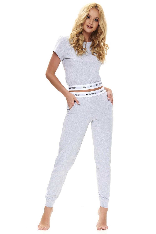 Dámske pyžamo Dn-NIGHTWEAR PM.9736 grey melange xl
