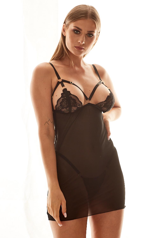 Erotický komplet Anais Alabama černá l/xl