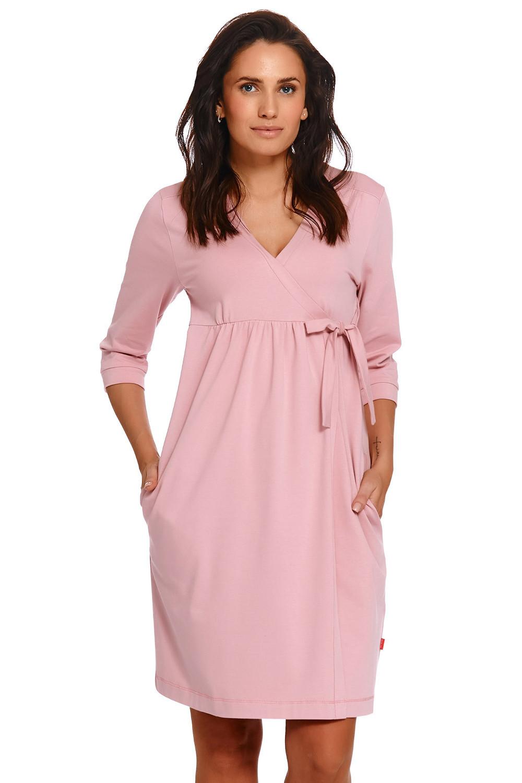 Těhotenský/kojící župan Dn-nightwear SBL.4243 papája s