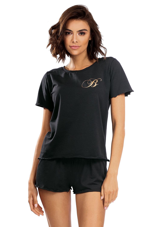 Dámske pyžamo Lorin P-1504 černá 44