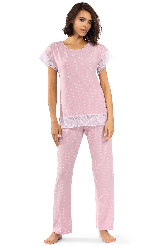Dámske pyžamo Lorin P-1524 pudrově růžová 38