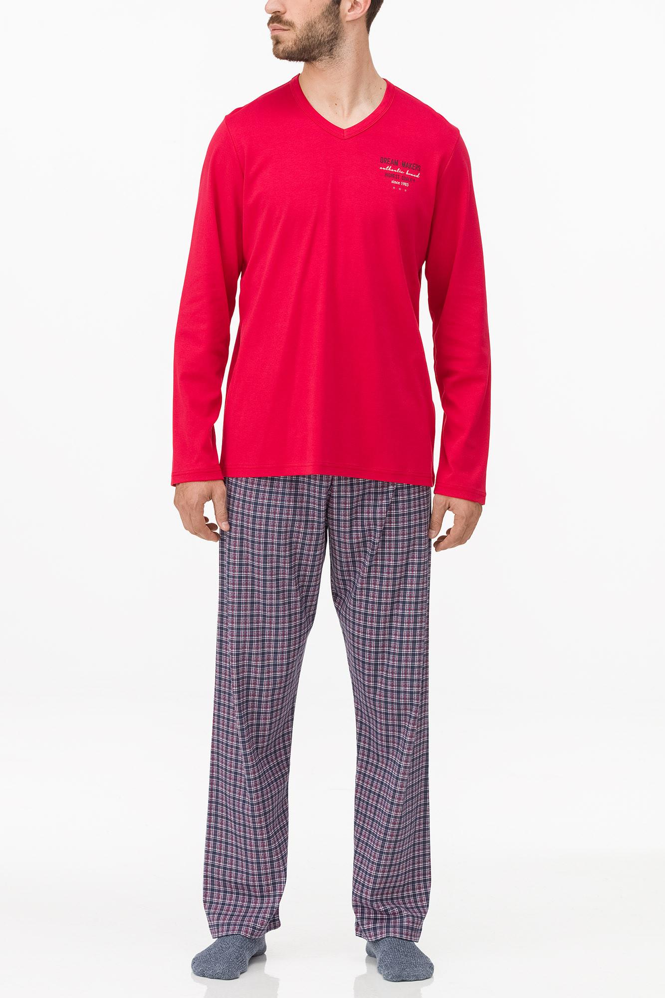 Vamp - Pánske pohodlné pyžamo 11698 - Vamp blue 5XL
