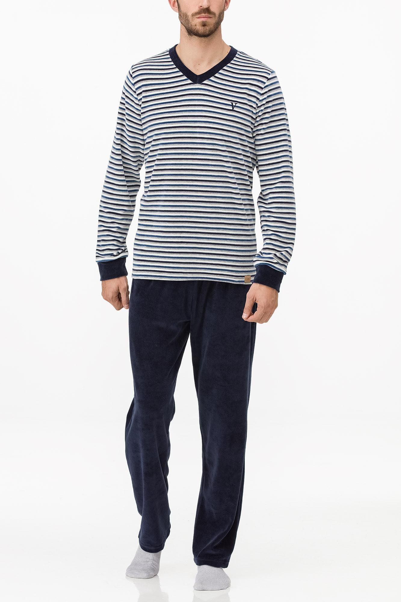 Vamp - Pánske pyžamo 11734 - Vamp blue blazer m